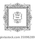 frame vintage decorative 35096289