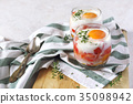 eggs, verrine, breakfast 35098942