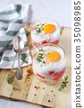 eggs, verrine, breakfast 35098985