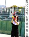 테니스를하는 여성 35099010