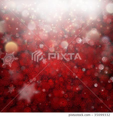 Deep red defocused Christmas background. EPS 10 35099332