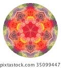 Colorful watercolor mandala. Oriental vintage 35099447