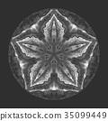 Detaled watercolor mandala. Oriental vintage round 35099449