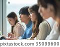 대학생, 강의, 여성 35099600