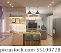 indoor interior kitchen 35100728