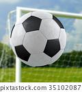 Football goal 35102087