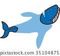 矢量 鯨魚 噴射 35104875