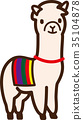 อัลพาก้า,สัตว์,ภาพวาดมือ สัตว์ 35104878