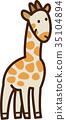 vector, vectors, giraffa 35104894