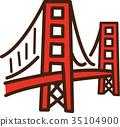 世界例證地圖金門大橋 35104900