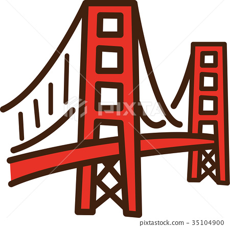 vector, vectors, golden gate bridge 35104900