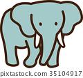 矢量 大象 圖標 35104917