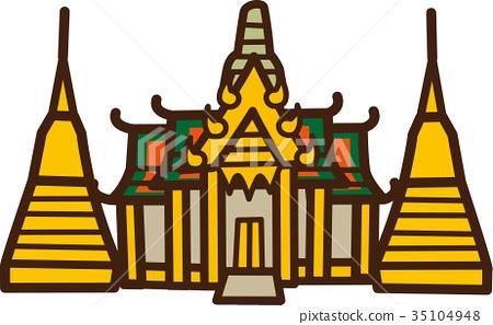 World Illustration Map Wat Phra Kaew 35104948