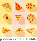 flat, icons, vector 35106602