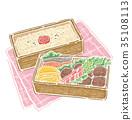 午餐盒 便当 食物 35108113