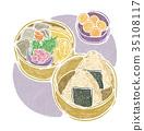 午餐盒 便当 食物 35108117
