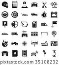 Mechanic auto icons set, simple style 35108232