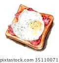 白麵包 吐司 土司 35110071