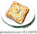 由水彩畫的蛋多士 35110078