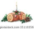 尤尔日志 圣诞蛋糕 蛋糕 35110356