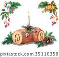 尤尔日志 圣诞蛋糕 蛋糕 35110359