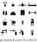 hotel icon set 35110614