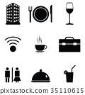 hotel icon set 35110615