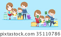 cute cartoon family 35110786