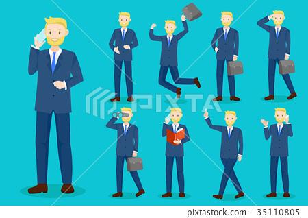 cartoon business man 35110805