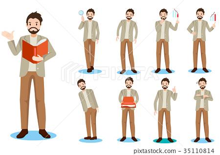 cartoon business man 35110814