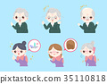 old people with hair concept 35110818