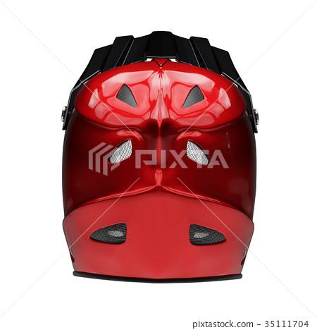 Motor Sport Full Face Helmet Isolated 35111704