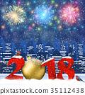 christmas, vector, greeting 35112438