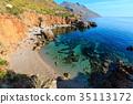 Sea bay in Zingaro Park, Sicily, Italy 35113172