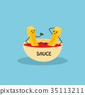 ketchup food character 35113211