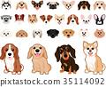 ชุดสุนัขหลากหลายสายพันธุ์ 35114092
