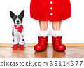 動物 聖誕老人 戲服 35114377