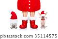 動物 聖誕老人 戲服 35114575