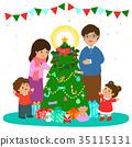 Christmas, congratulate, family 35115131