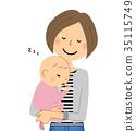 벡터, 엄마, 아기 35115749