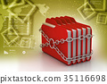 folder locked by chains 35116698