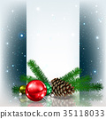 christmas decoration greeting 35118033