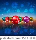 Christmas greeting with Christmas decorations 35118034