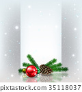 christmas decoration greeting 35118037