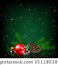 christmas decoration greeting 35118038