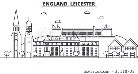 England, Leicester architecture line skyline 35118735