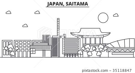 Japan, Saitama architecture line skyline 35118847