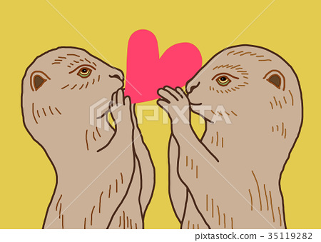 Otters keeping their hearts 35119282