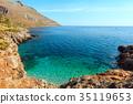 Sea bay in Zingaro Park, Sicily, Italy 35119653