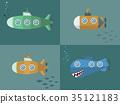 潜水艇 海洋 航海的 35121183